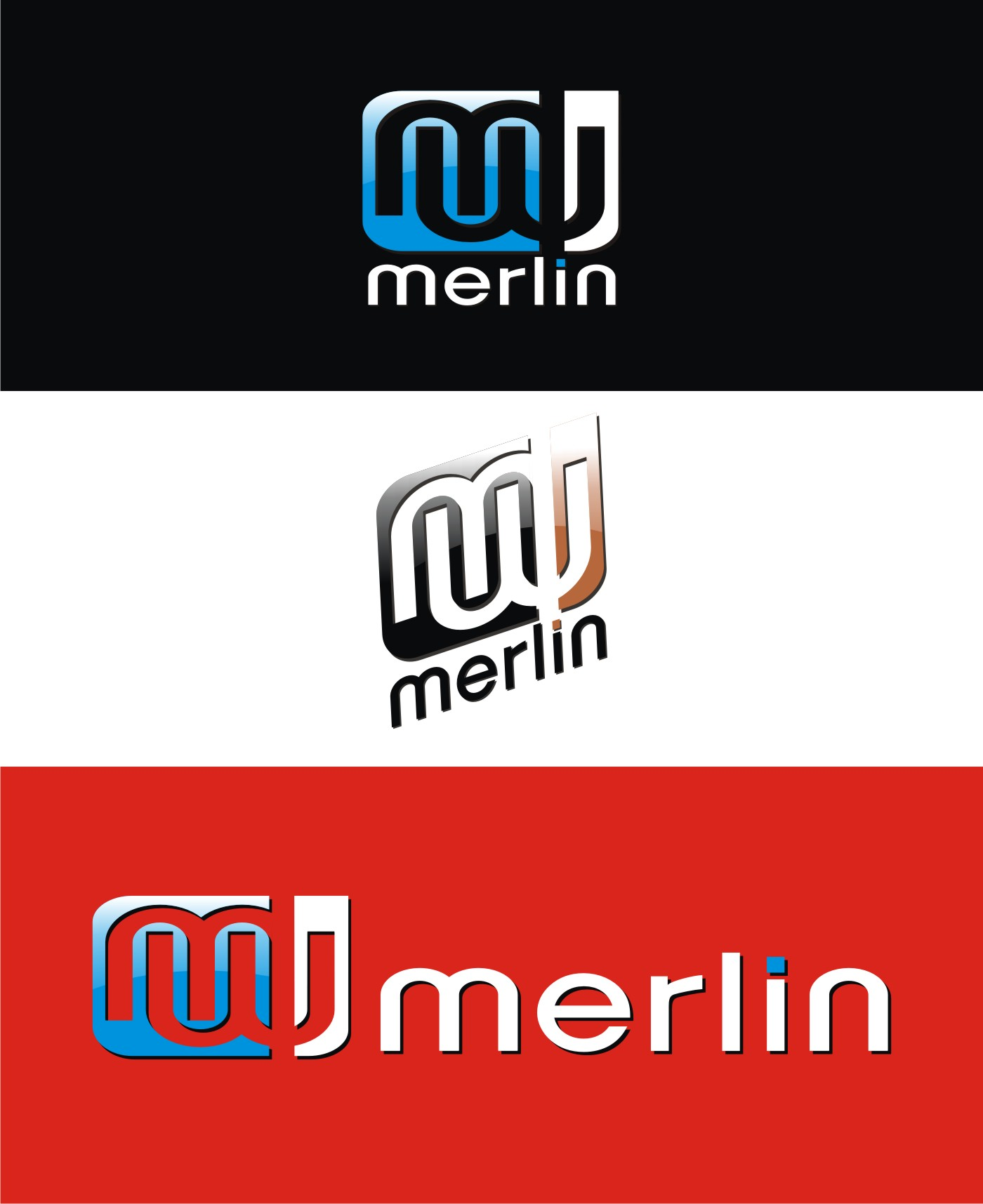 Logo Design by Private User - Entry No. 100 in the Logo Design Contest Imaginative Logo Design for Merlin.