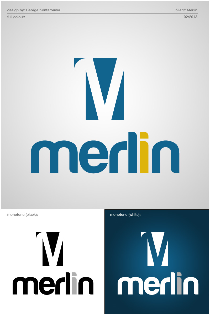 Logo Design by gkonta - Entry No. 109 in the Logo Design Contest Imaginative Logo Design for Merlin.