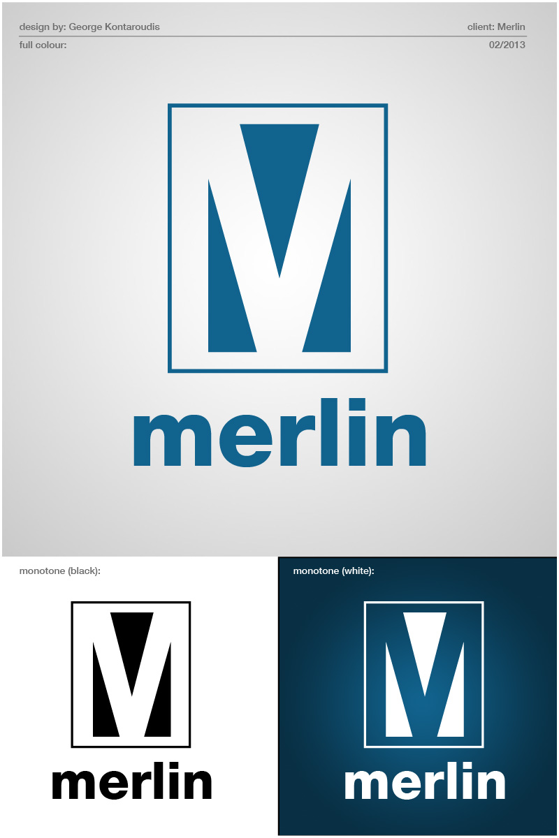 Logo Design by gkonta - Entry No. 111 in the Logo Design Contest Imaginative Logo Design for Merlin.