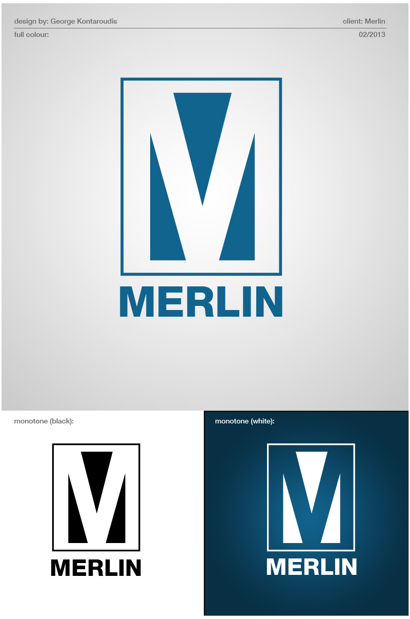 Logo Design by gkonta - Entry No. 112 in the Logo Design Contest Imaginative Logo Design for Merlin.