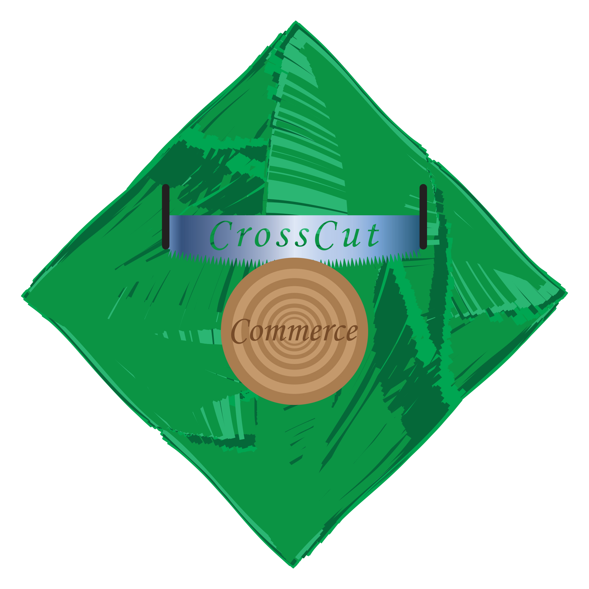 Logo Design by Adrian Bud - Entry No. 101 in the Logo Design Contest New Logo Design for CrossCut Commerce.