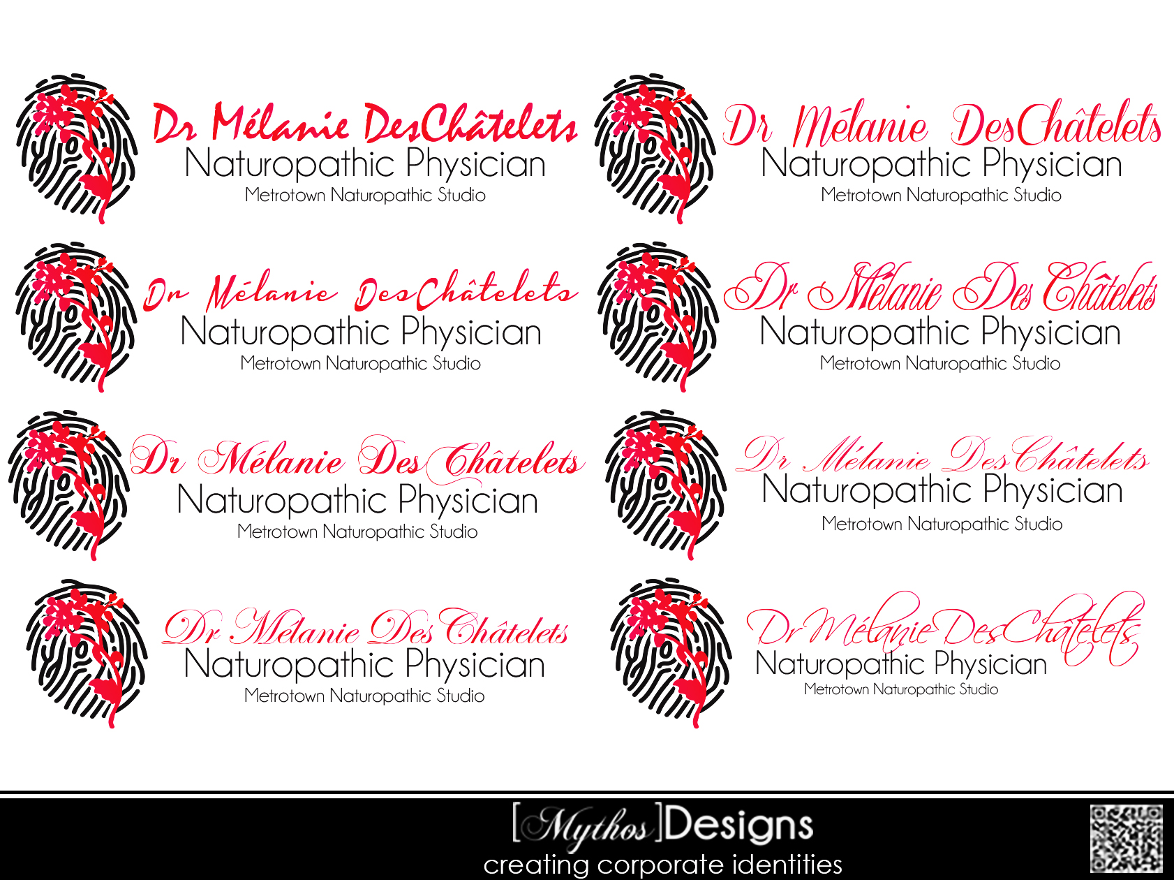 Logo Design by Mythos Designs - Entry No. 38 in the Logo Design Contest Artistic Logo Design for Dr Mélanie DesChâtelets.