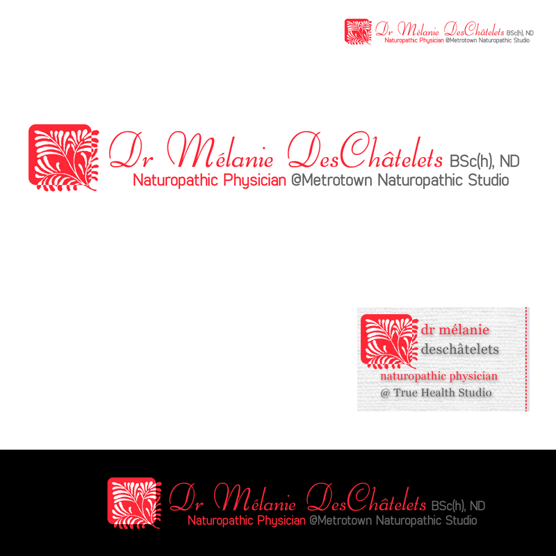 Logo Design by Private User - Entry No. 39 in the Logo Design Contest Artistic Logo Design for Dr Mélanie DesChâtelets.