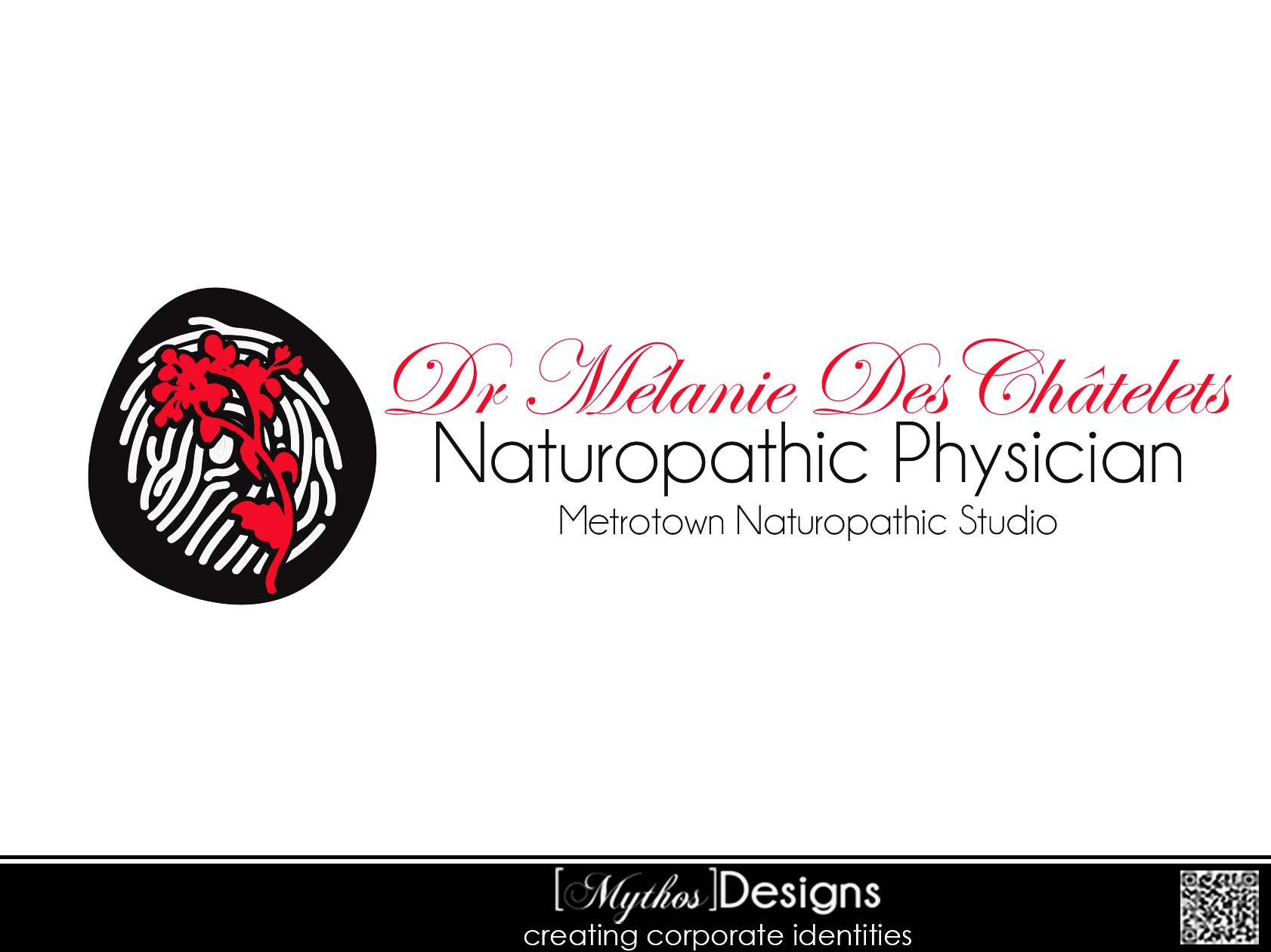 Logo Design by Mythos Designs - Entry No. 49 in the Logo Design Contest Artistic Logo Design for Dr Mélanie DesChâtelets.