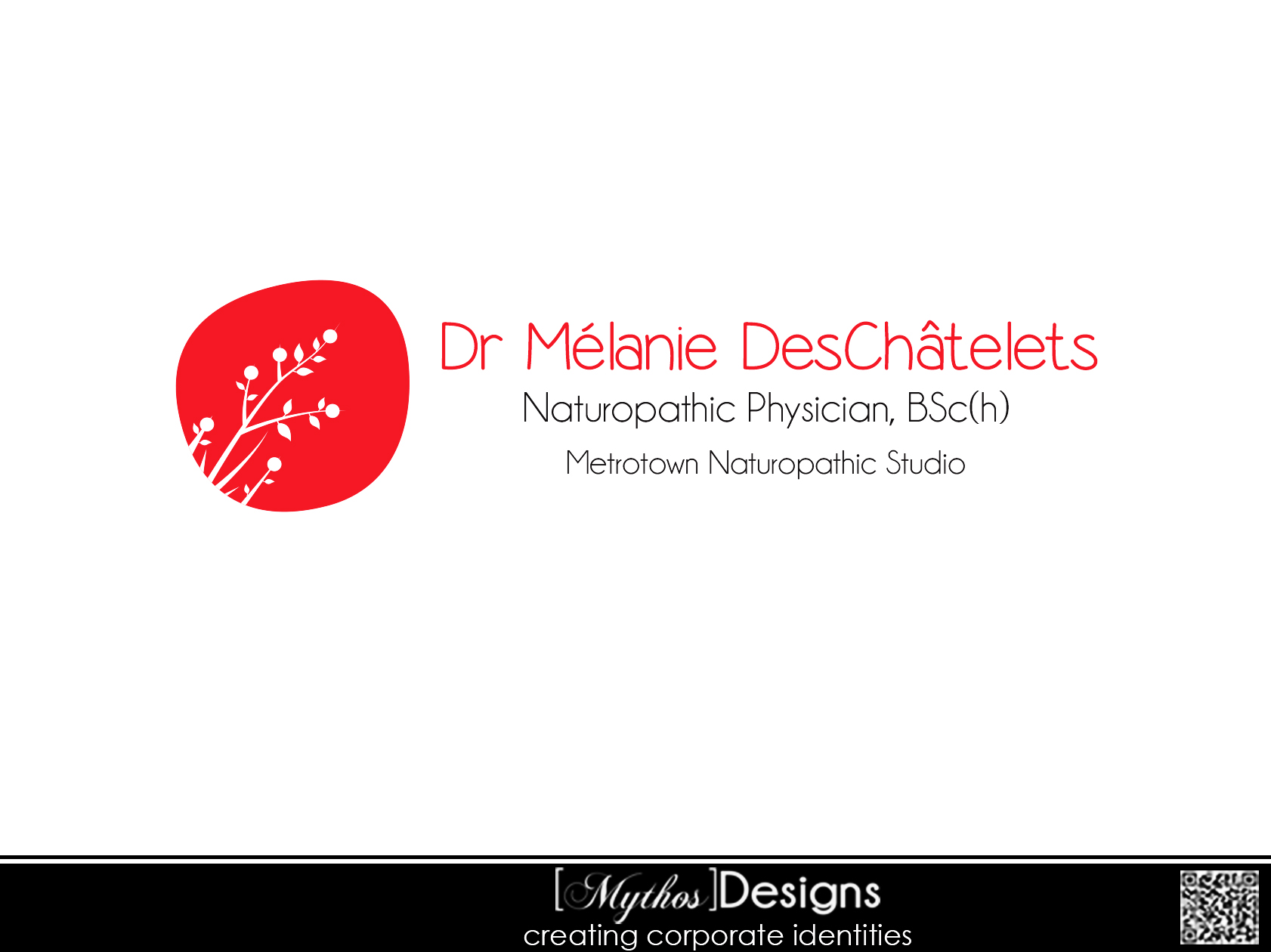 Logo Design by Mythos Designs - Entry No. 51 in the Logo Design Contest Artistic Logo Design for Dr Mélanie DesChâtelets.