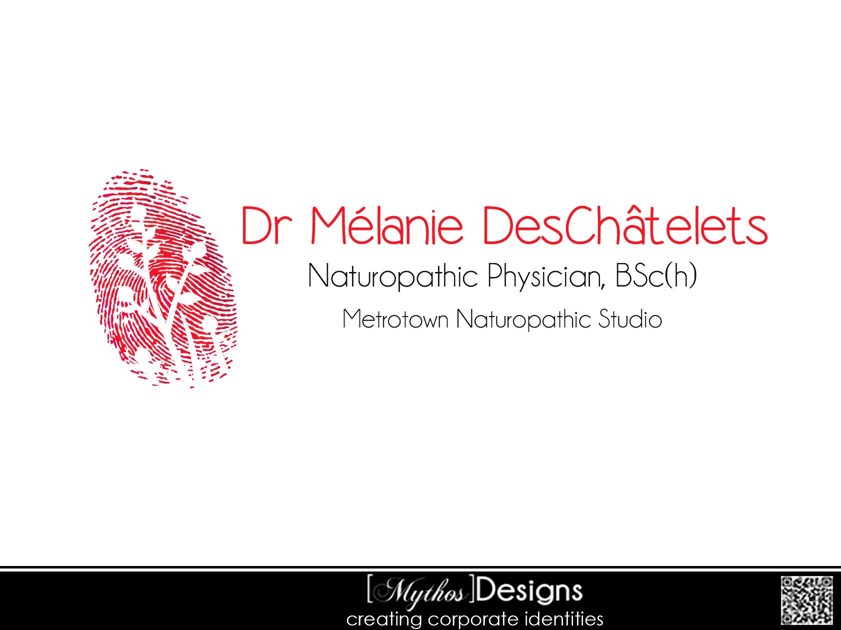 Logo Design by Mythos Designs - Entry No. 52 in the Logo Design Contest Artistic Logo Design for Dr Mélanie DesChâtelets.