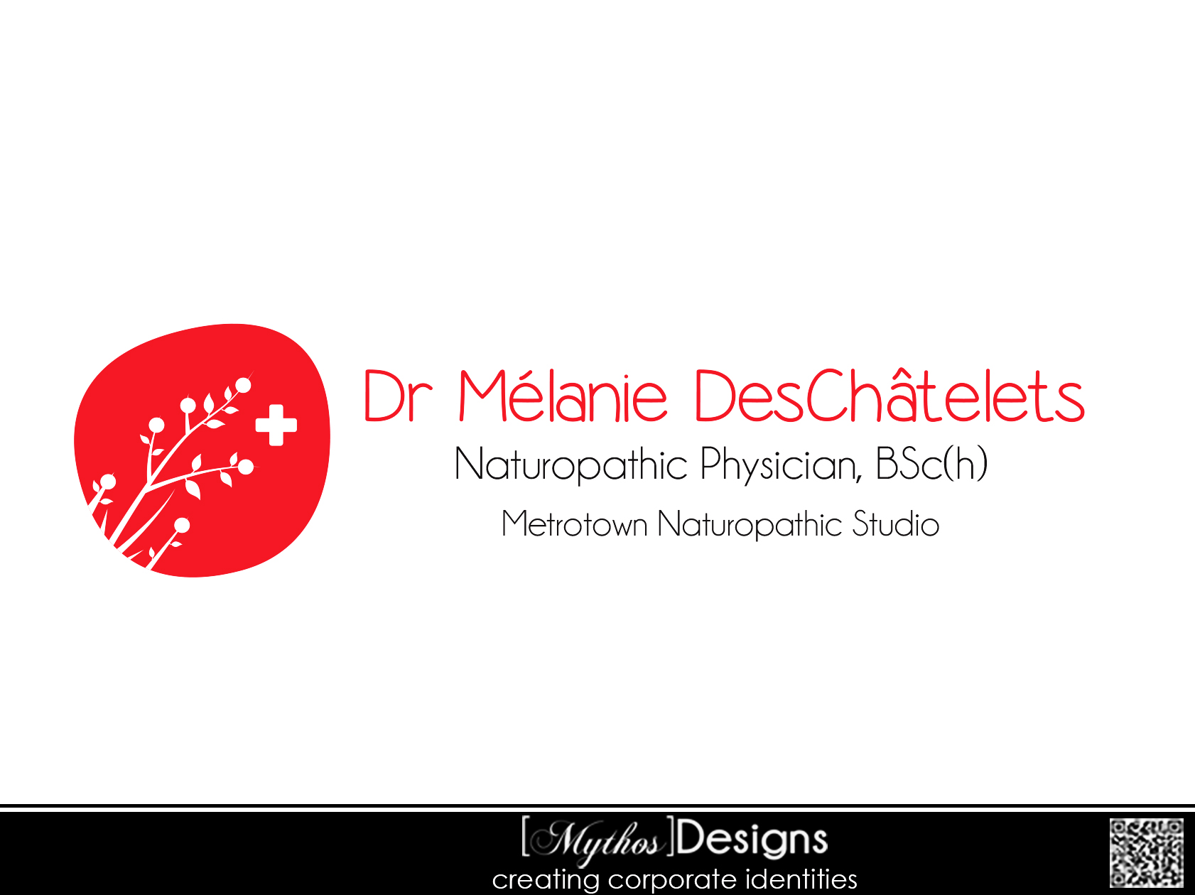 Logo Design by Mythos Designs - Entry No. 56 in the Logo Design Contest Artistic Logo Design for Dr Mélanie DesChâtelets.