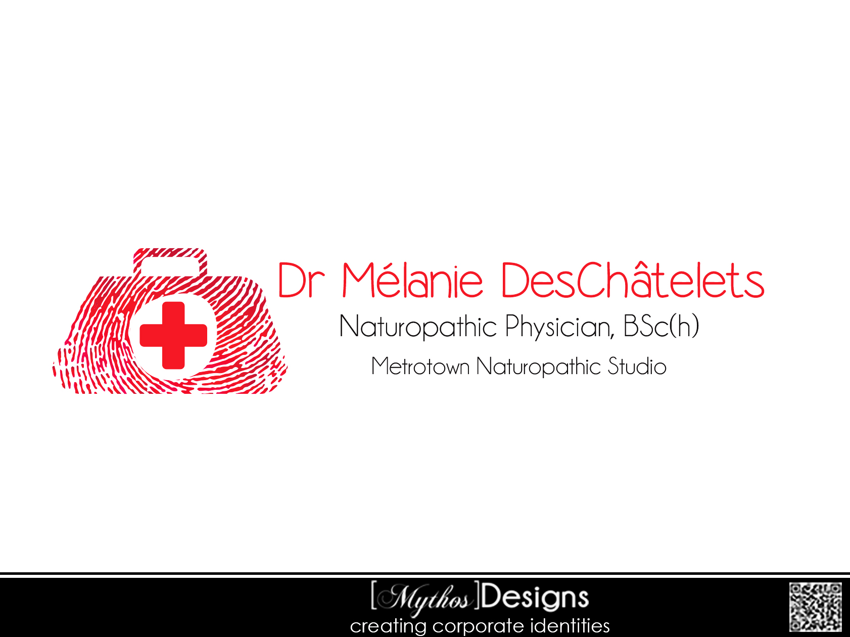 Logo Design by Mythos Designs - Entry No. 59 in the Logo Design Contest Artistic Logo Design for Dr Mélanie DesChâtelets.