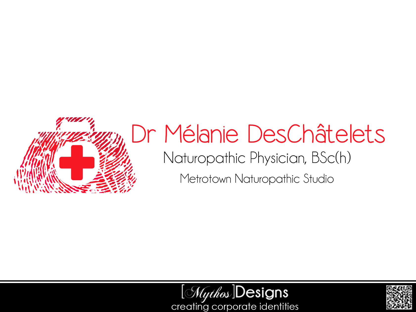 Logo Design by Mythos Designs - Entry No. 60 in the Logo Design Contest Artistic Logo Design for Dr Mélanie DesChâtelets.