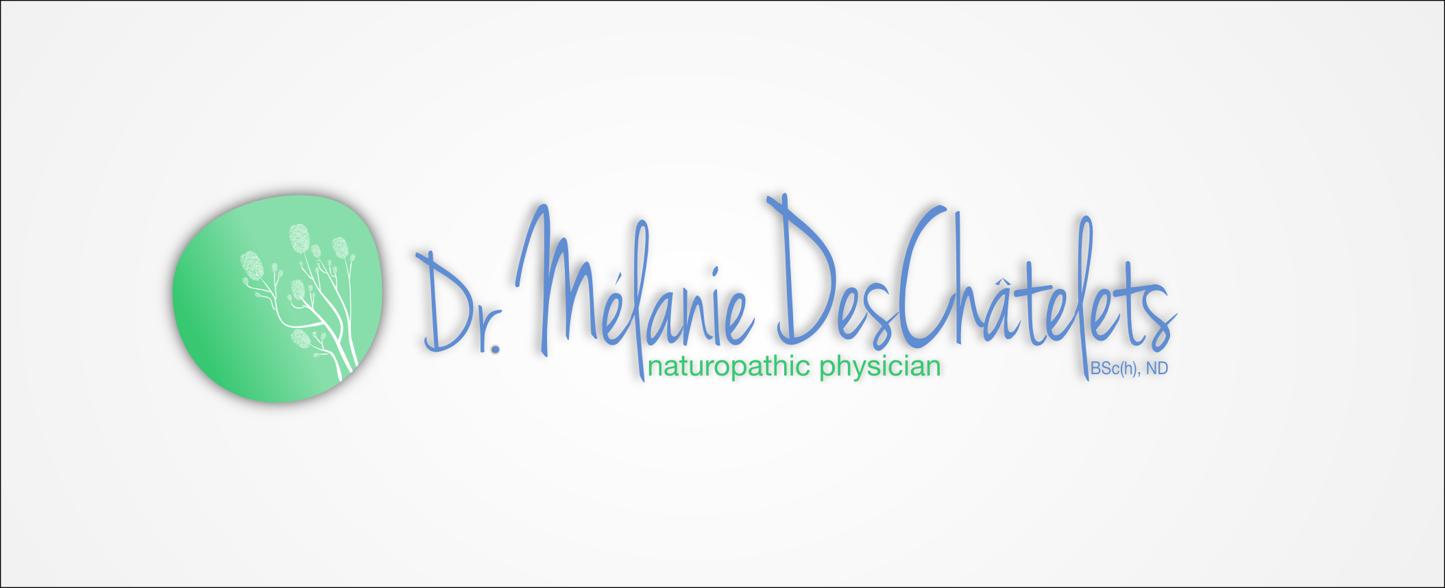Logo Design by Andrew Bertram - Entry No. 61 in the Logo Design Contest Artistic Logo Design for Dr Mélanie DesChâtelets.