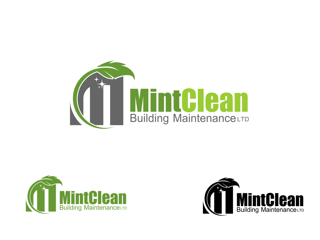 Logo Design by Chris Frederickson - Entry No. 15 in the Logo Design Contest MintClean Building Maintenance Ltd. Logo Design.