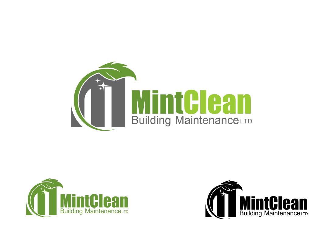 Logo Design by Chris Frederickson - Entry No. 15 in the Logo Design Contest MintClean Building Maintenance Ltd. Logo Design.