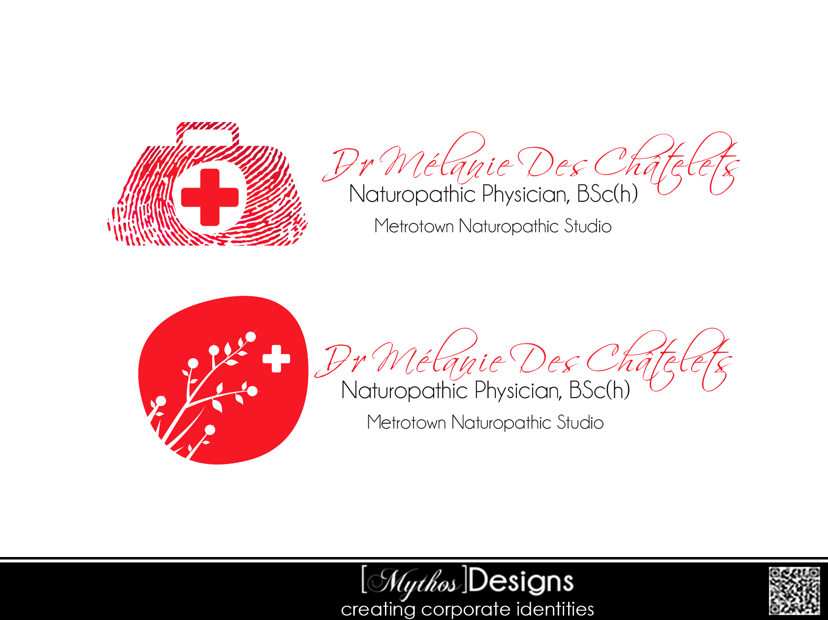 Logo Design by Mythos Designs - Entry No. 71 in the Logo Design Contest Artistic Logo Design for Dr Mélanie DesChâtelets.