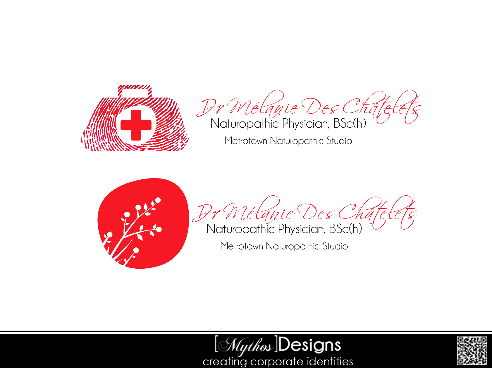 Logo Design by Mythos Designs - Entry No. 72 in the Logo Design Contest Artistic Logo Design for Dr Mélanie DesChâtelets.