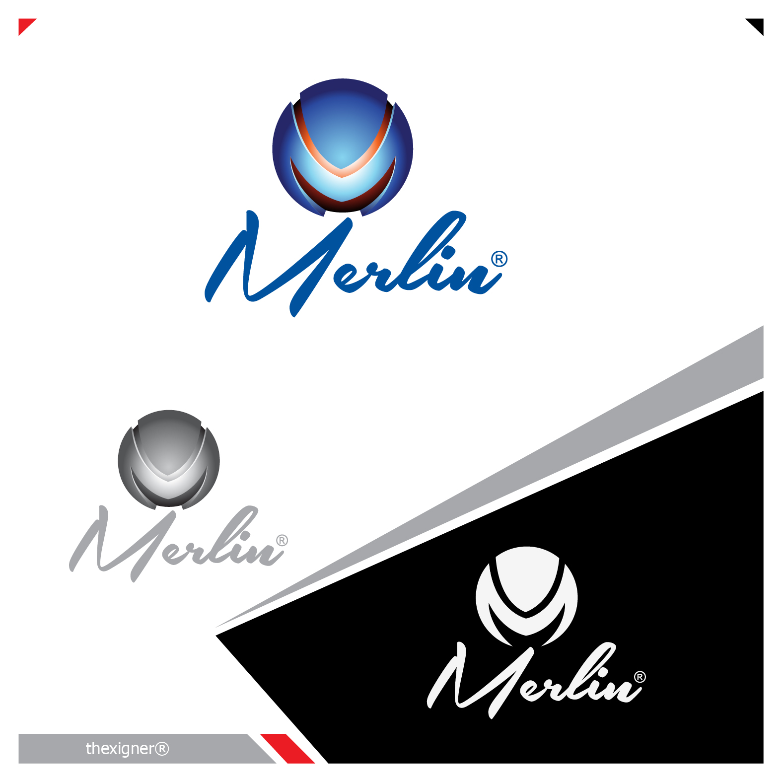 Logo Design by lagalag - Entry No. 152 in the Logo Design Contest Imaginative Logo Design for Merlin.