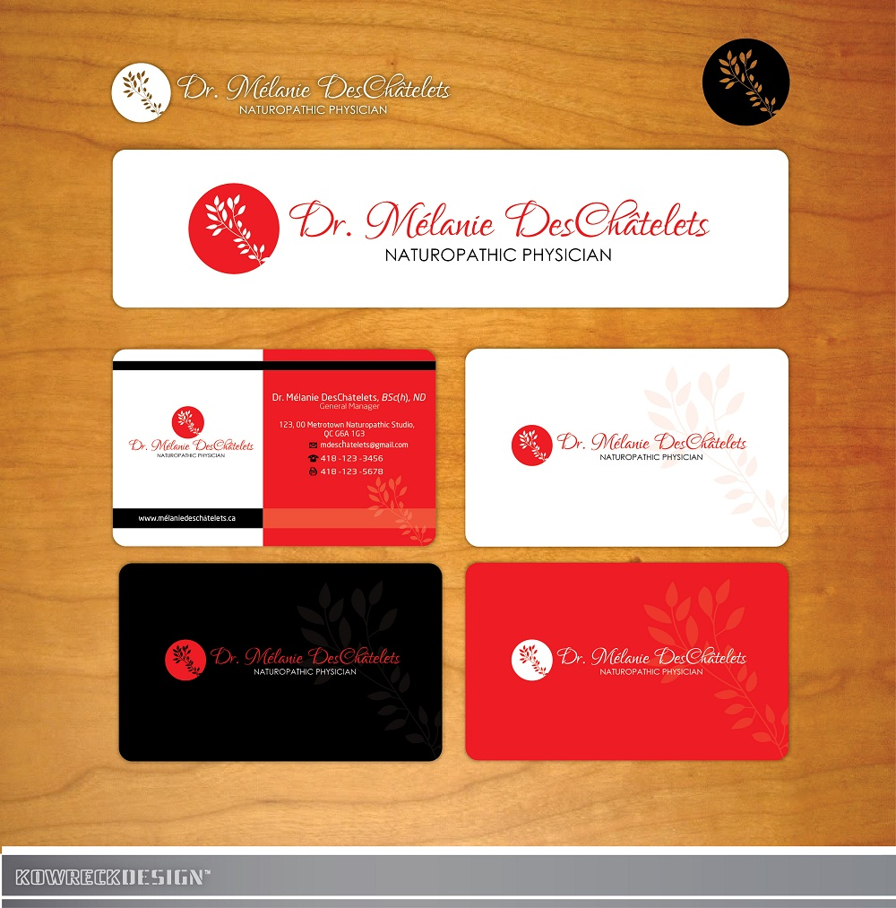 Logo Design by kowreck - Entry No. 86 in the Logo Design Contest Artistic Logo Design for Dr Mélanie DesChâtelets.