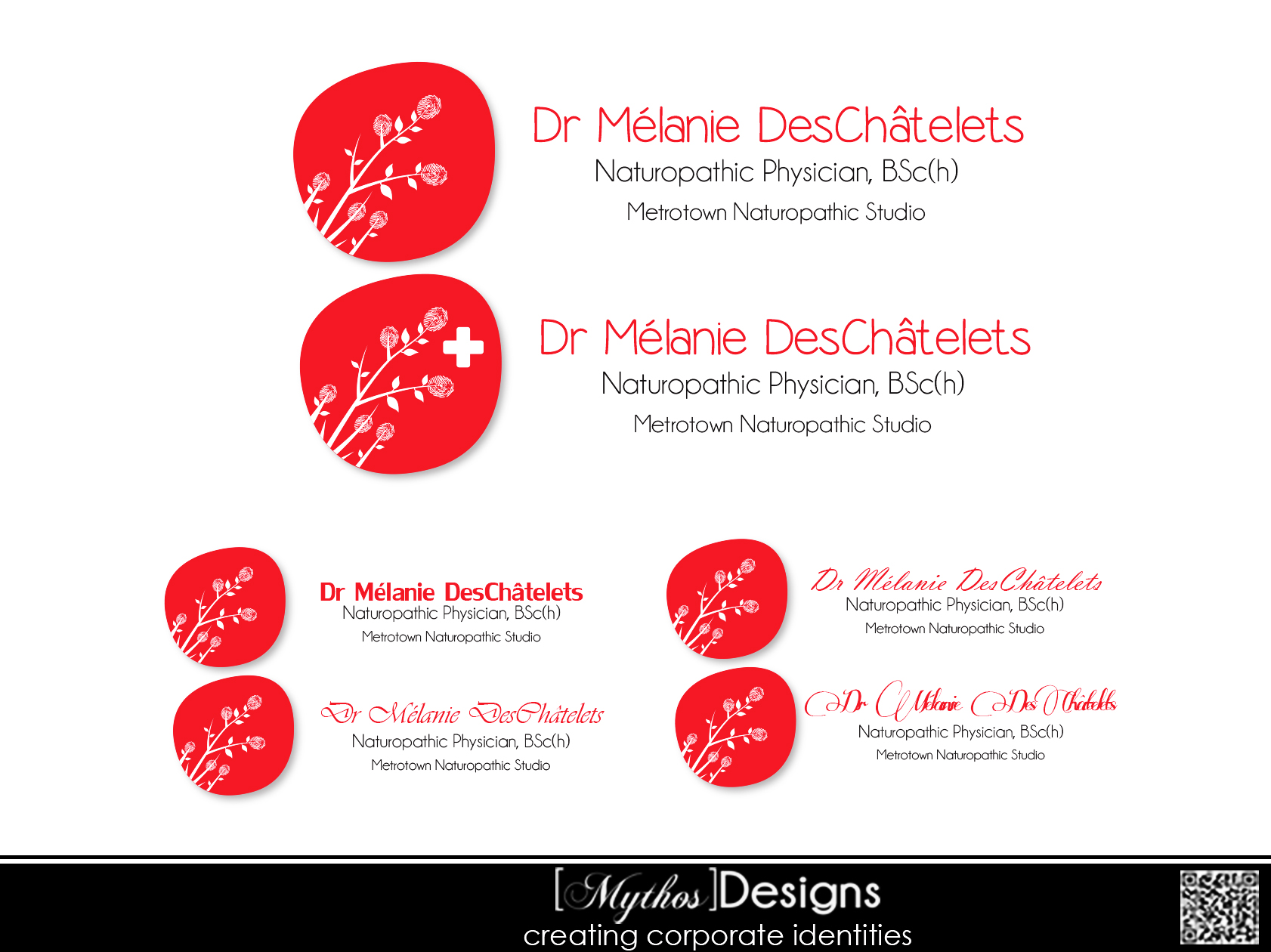 Logo Design by Mythos Designs - Entry No. 95 in the Logo Design Contest Artistic Logo Design for Dr Mélanie DesChâtelets.