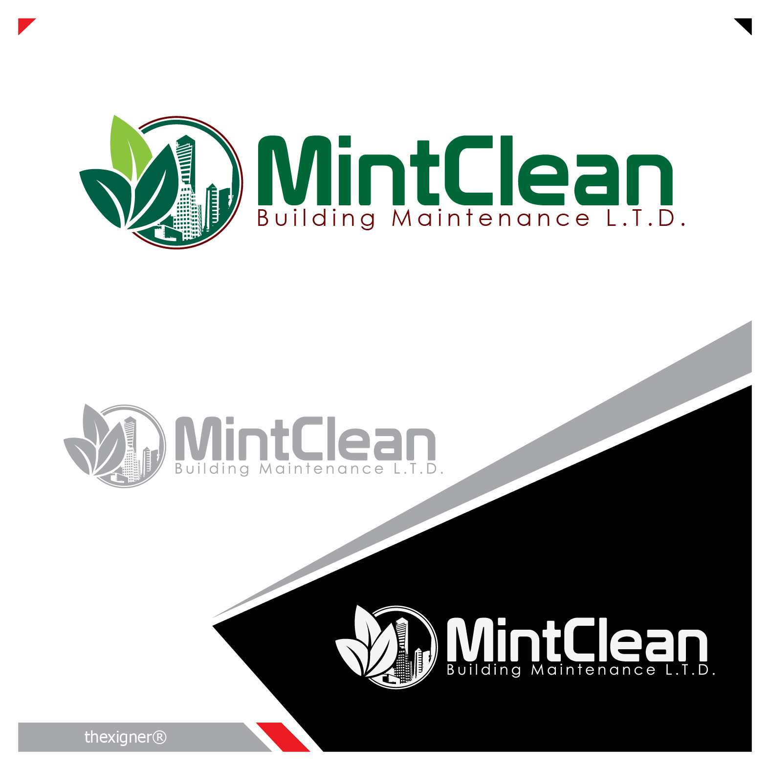 Logo Design by lagalag - Entry No. 49 in the Logo Design Contest MintClean Building Maintenance Ltd. Logo Design.