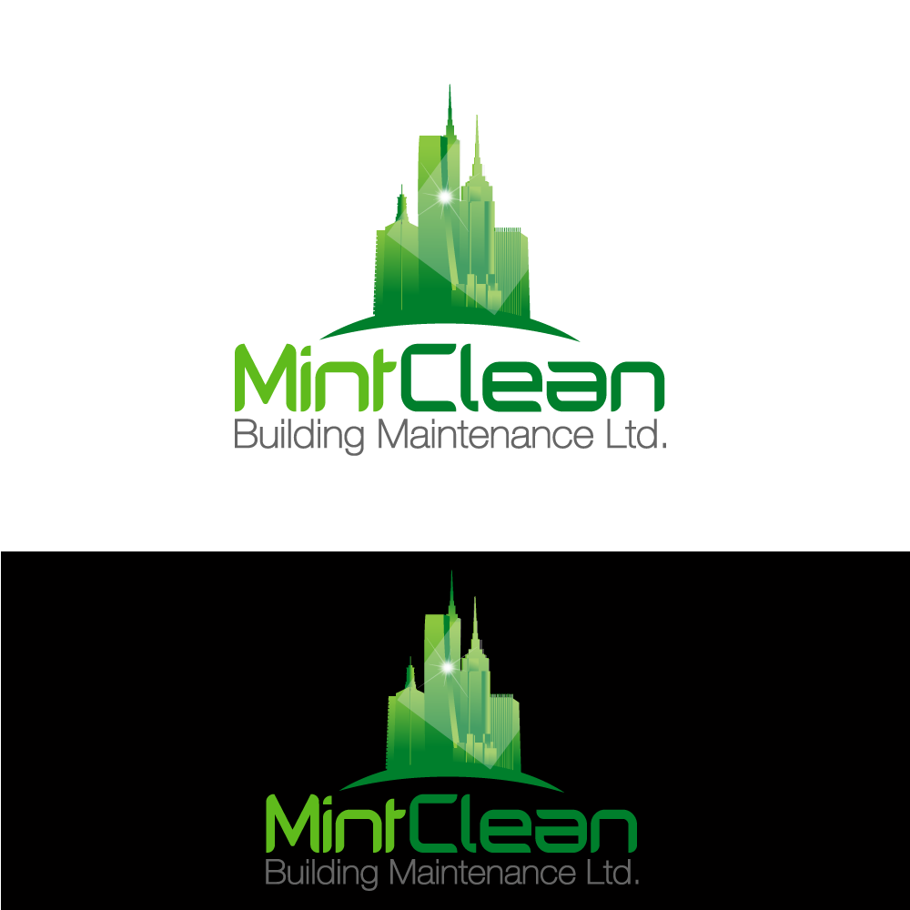 Logo Design by rockin - Entry No. 55 in the Logo Design Contest MintClean Building Maintenance Ltd. Logo Design.