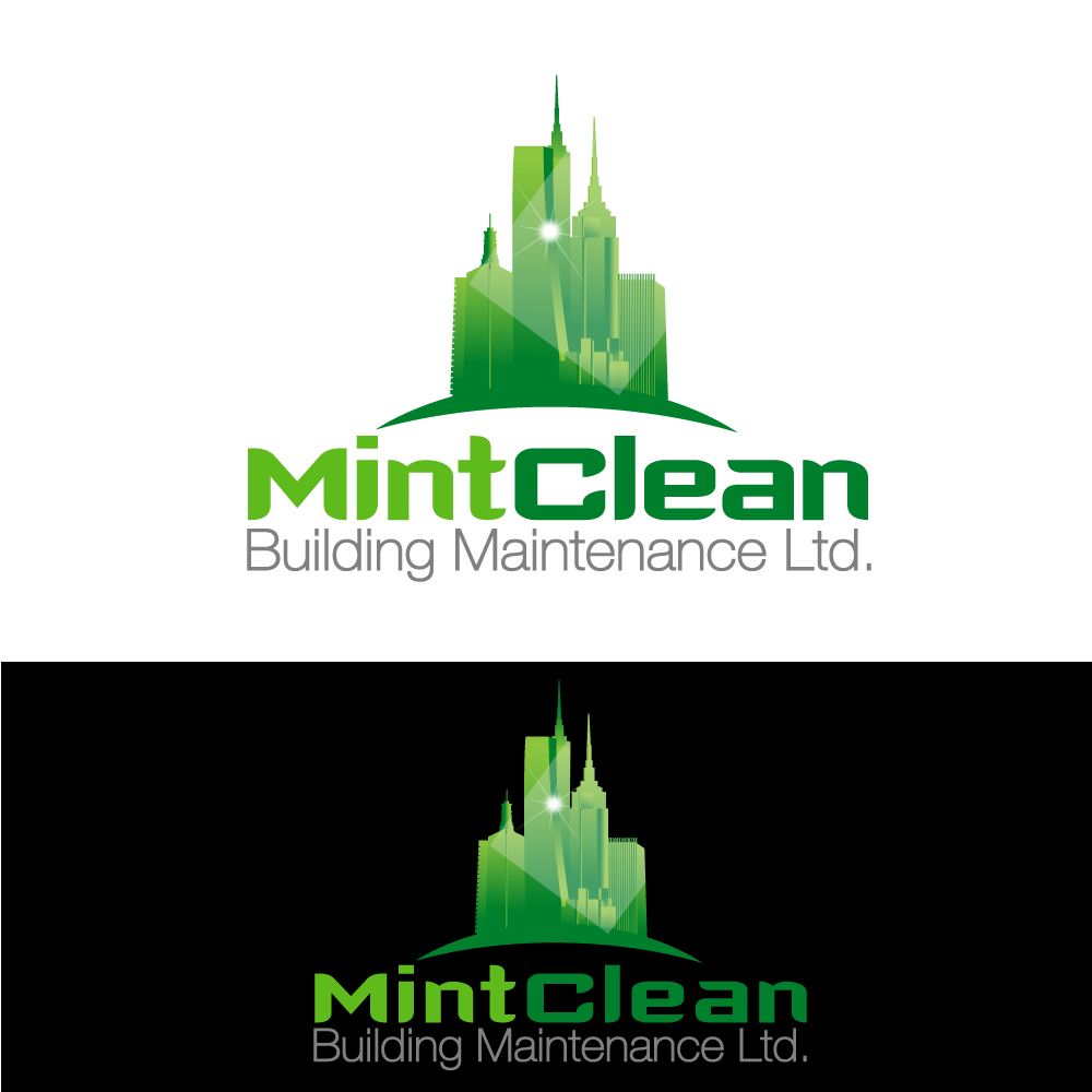 Logo Design by rockin - Entry No. 58 in the Logo Design Contest MintClean Building Maintenance Ltd. Logo Design.
