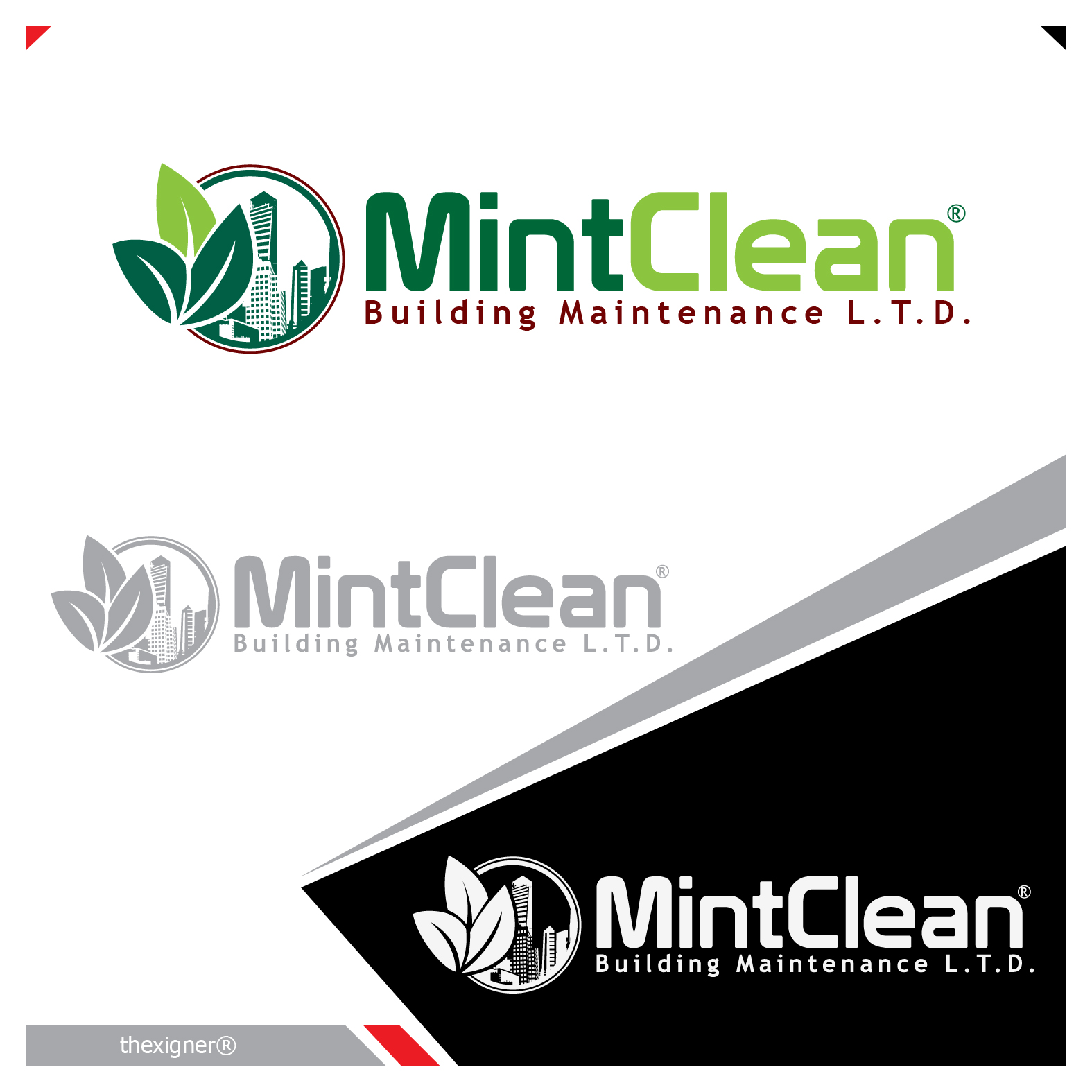 Logo Design by lagalag - Entry No. 59 in the Logo Design Contest MintClean Building Maintenance Ltd. Logo Design.