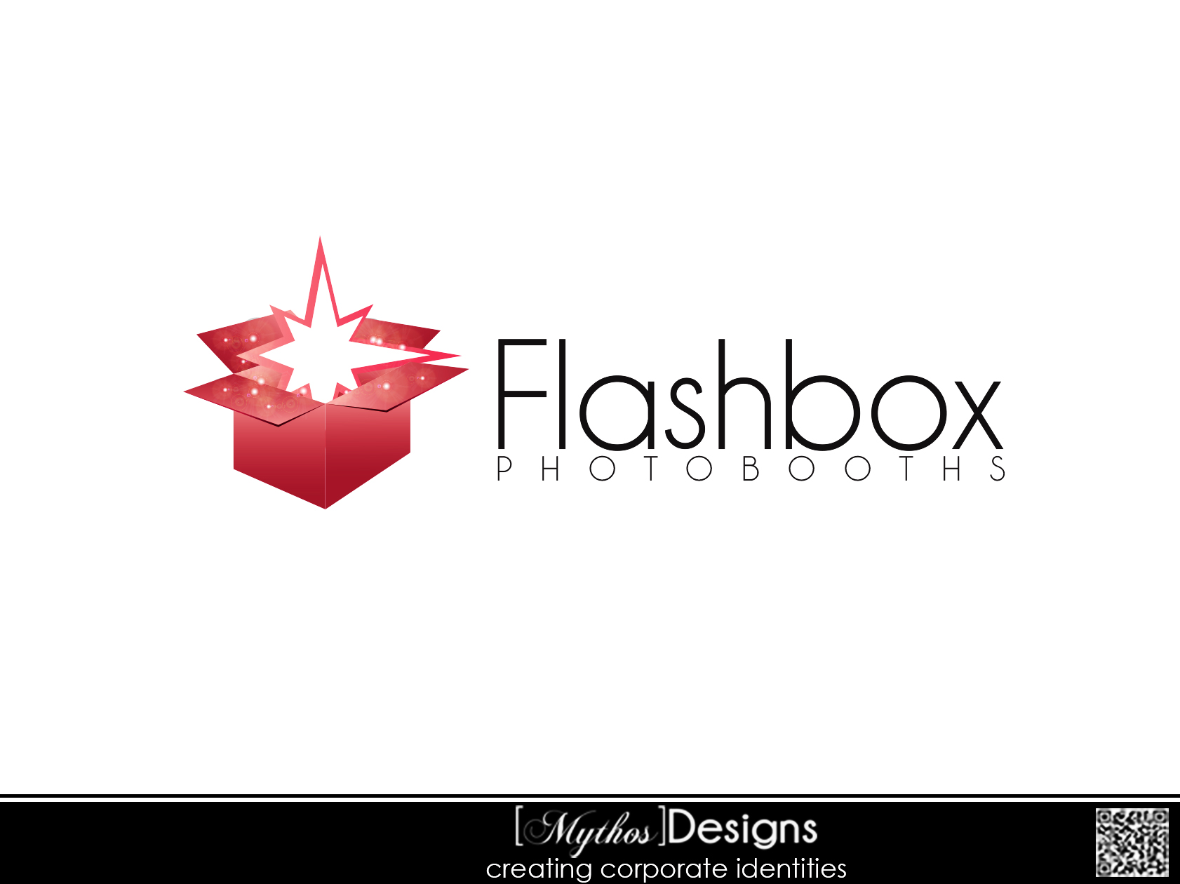 Logo Design by Mythos Designs - Entry No. 10 in the Logo Design Contest New Logo Design for FlashBox Photobooths.