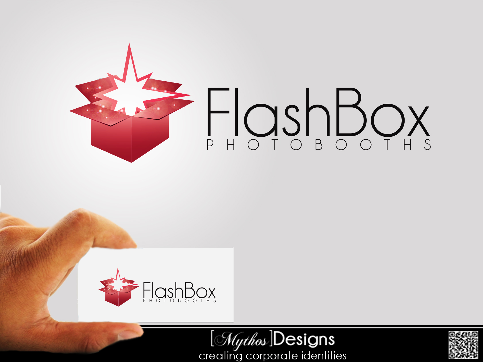 Logo Design by Mythos Designs - Entry No. 11 in the Logo Design Contest New Logo Design for FlashBox Photobooths.