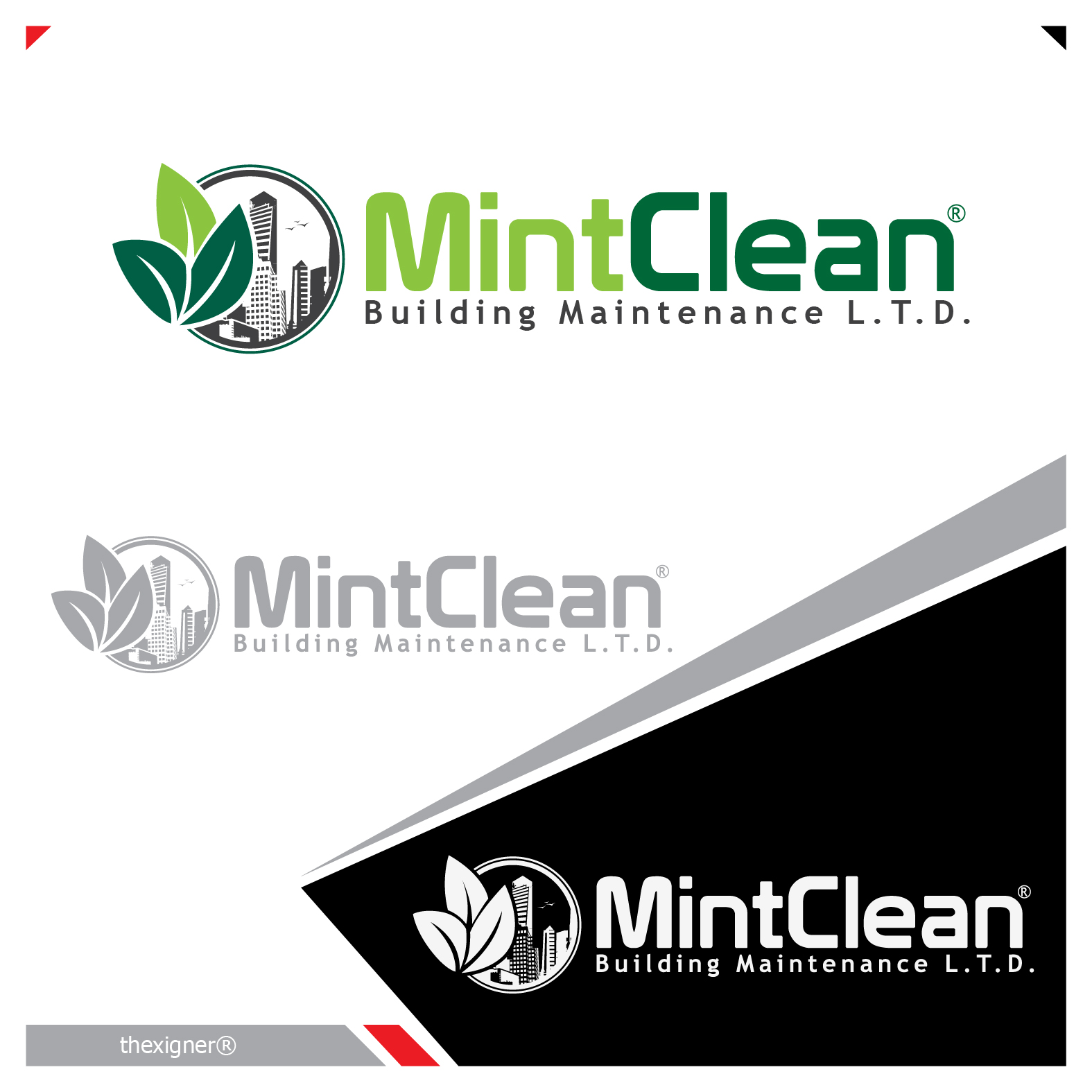 Logo Design by lagalag - Entry No. 69 in the Logo Design Contest MintClean Building Maintenance Ltd. Logo Design.
