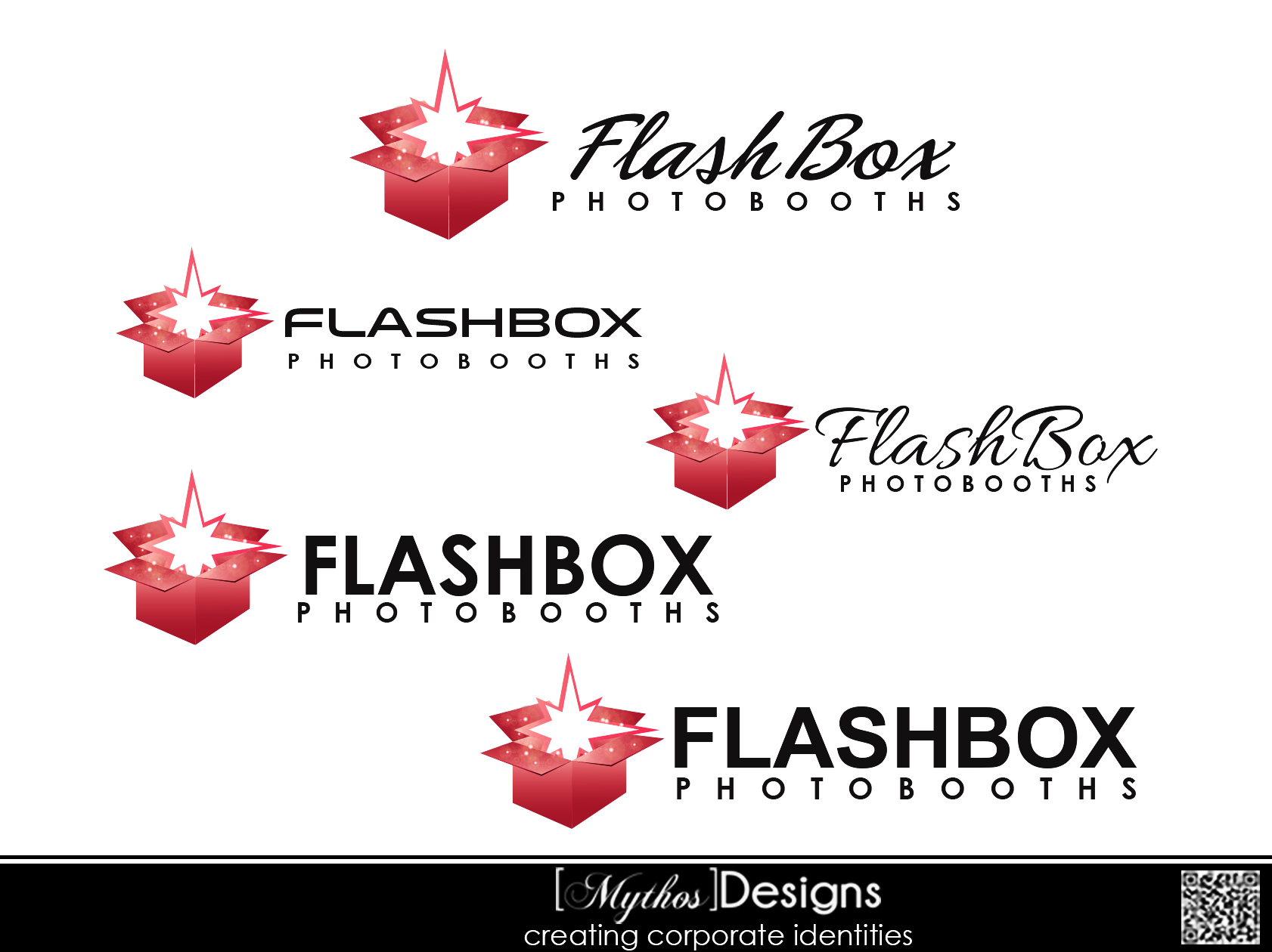 Logo Design by Mythos Designs - Entry No. 22 in the Logo Design Contest New Logo Design for FlashBox Photobooths.