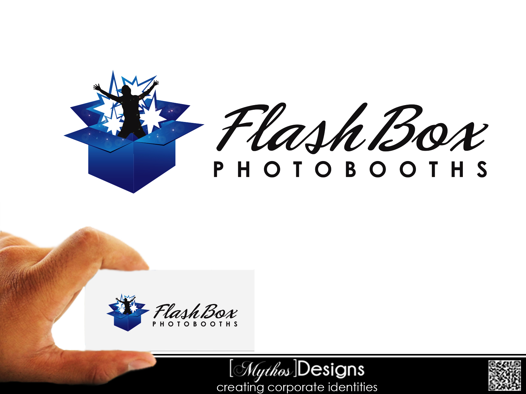 Logo Design by Mythos Designs - Entry No. 24 in the Logo Design Contest New Logo Design for FlashBox Photobooths.