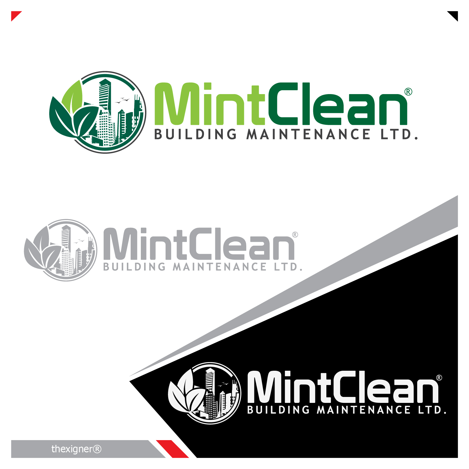 Logo Design by lagalag - Entry No. 73 in the Logo Design Contest MintClean Building Maintenance Ltd. Logo Design.