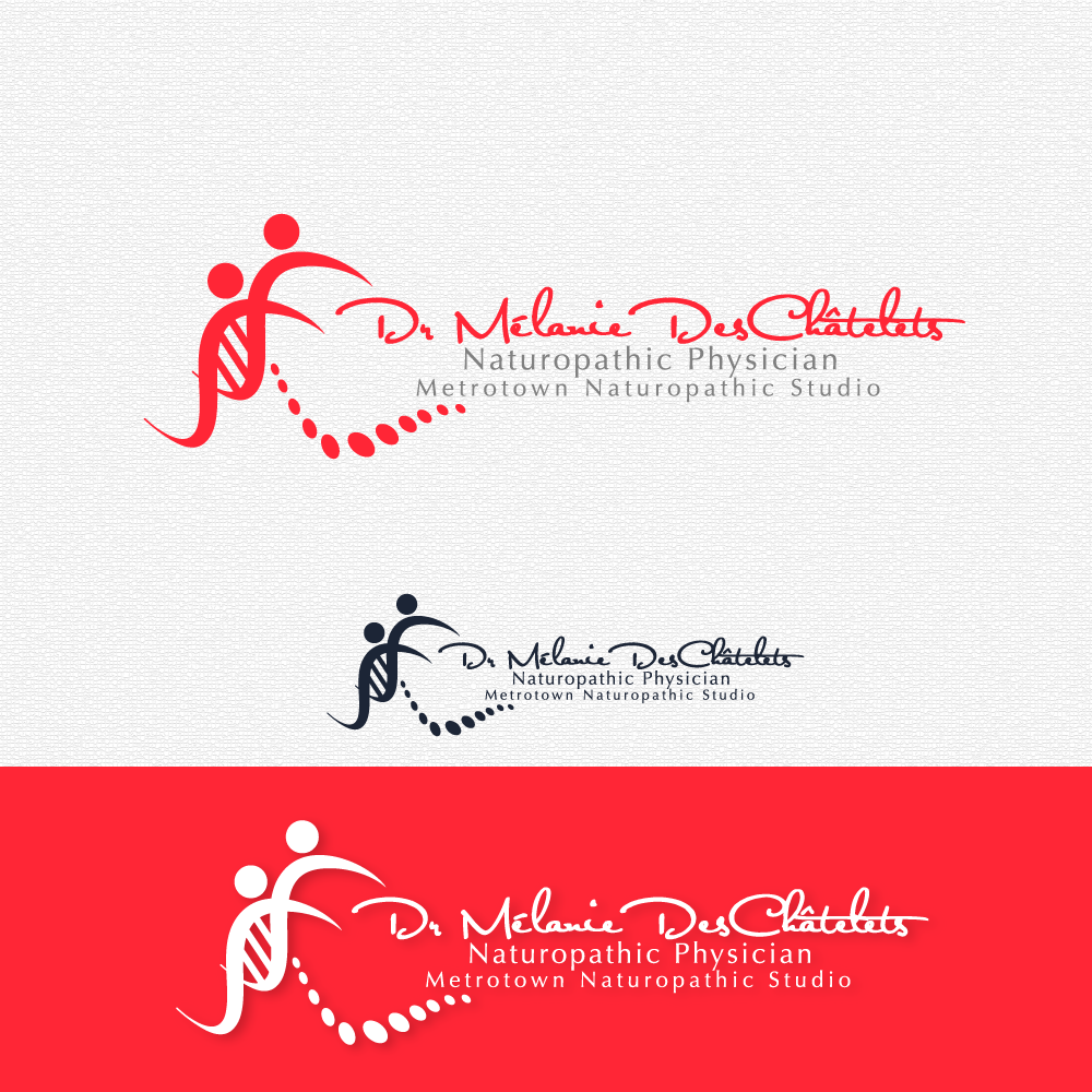 Logo Design by rockin - Entry No. 123 in the Logo Design Contest Artistic Logo Design for Dr Mélanie DesChâtelets.