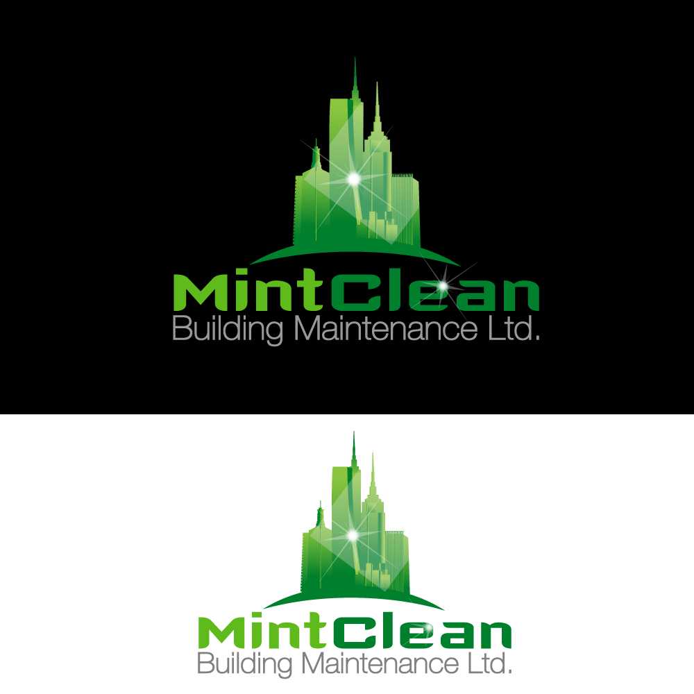 Logo Design by rockin - Entry No. 75 in the Logo Design Contest MintClean Building Maintenance Ltd. Logo Design.