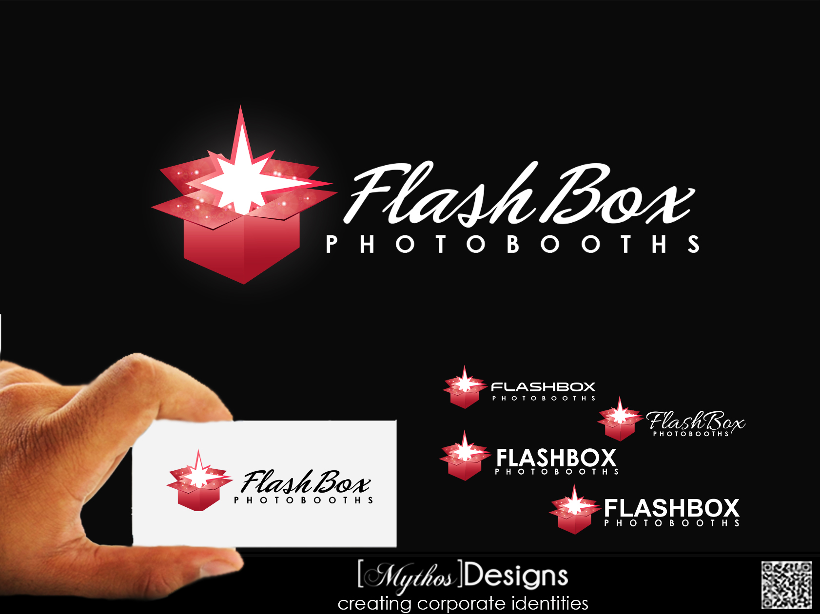 Logo Design by Mythos Designs - Entry No. 42 in the Logo Design Contest New Logo Design for FlashBox Photobooths.