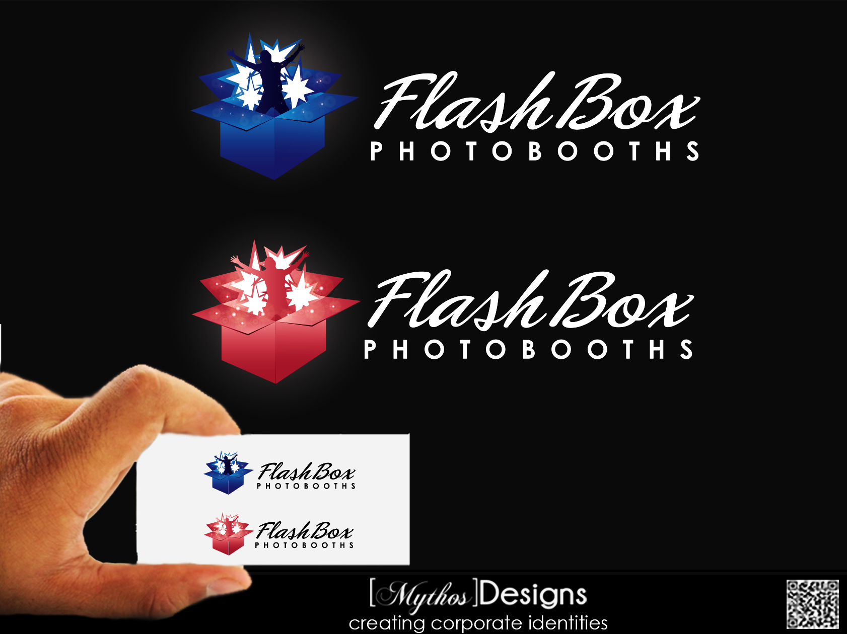 Logo Design by Mythos Designs - Entry No. 43 in the Logo Design Contest New Logo Design for FlashBox Photobooths.