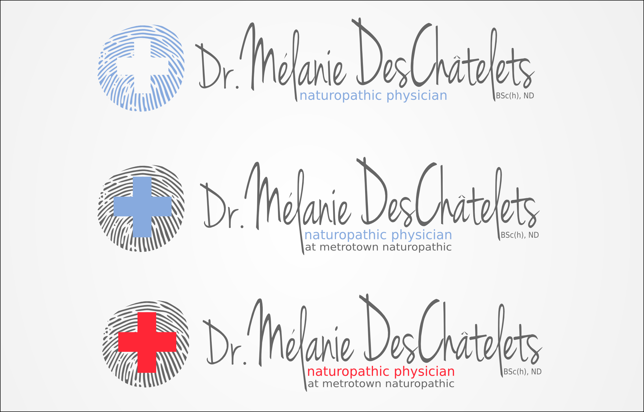 Logo Design by Andrew Bertram - Entry No. 134 in the Logo Design Contest Artistic Logo Design for Dr Mélanie DesChâtelets.