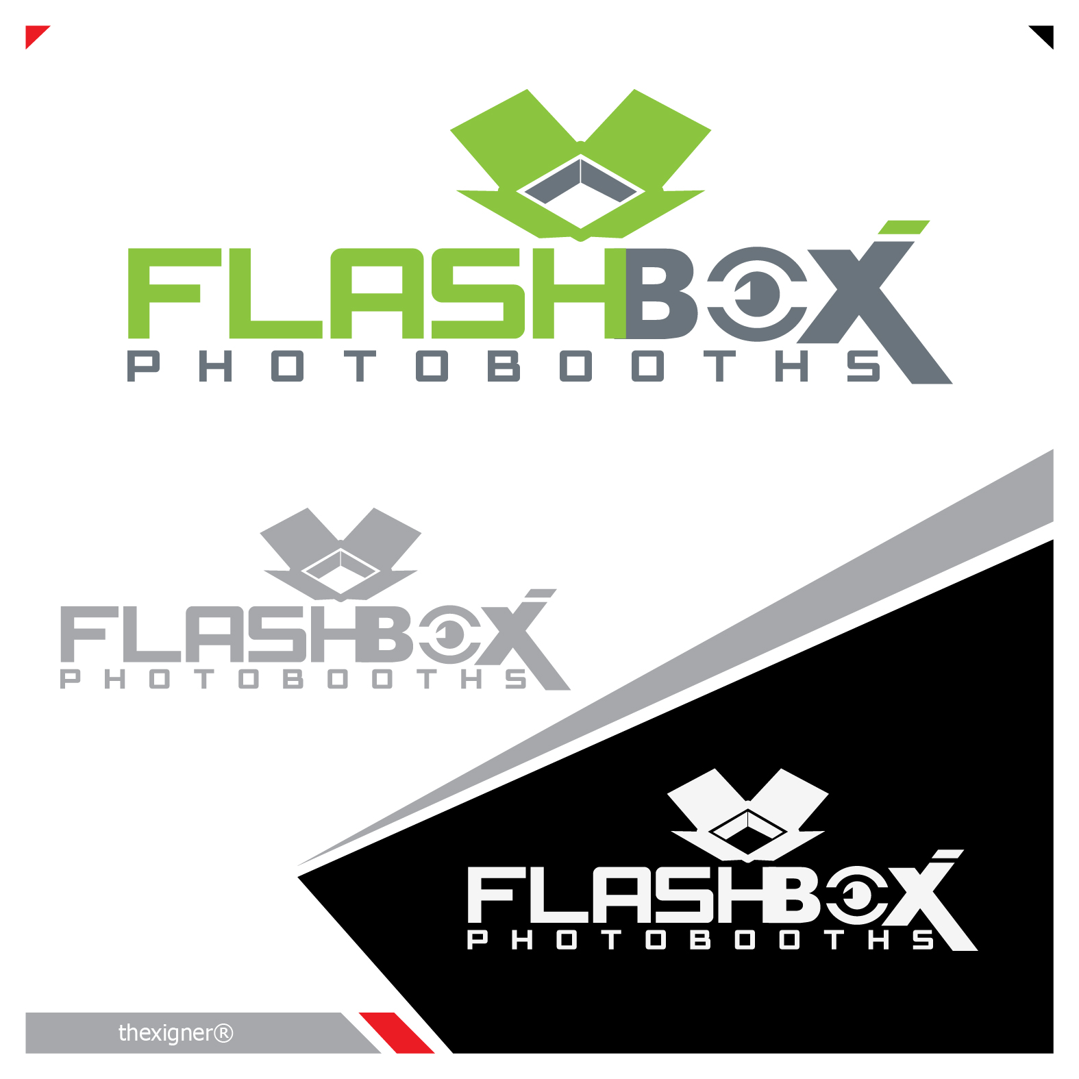 Logo Design by lagalag - Entry No. 49 in the Logo Design Contest New Logo Design for FlashBox Photobooths.