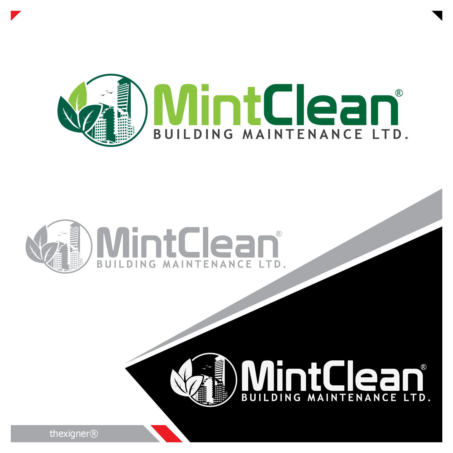 Logo Design by lagalag - Entry No. 92 in the Logo Design Contest MintClean Building Maintenance Ltd. Logo Design.