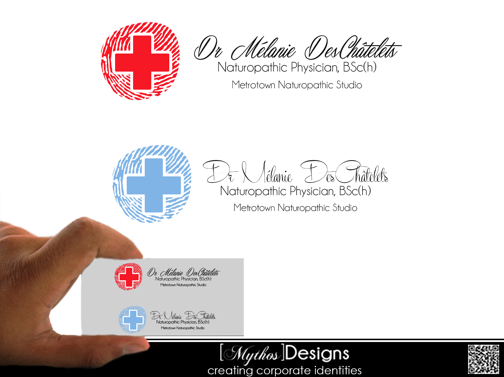 Logo Design by Mythos Designs - Entry No. 172 in the Logo Design Contest Artistic Logo Design for Dr Mélanie DesChâtelets.