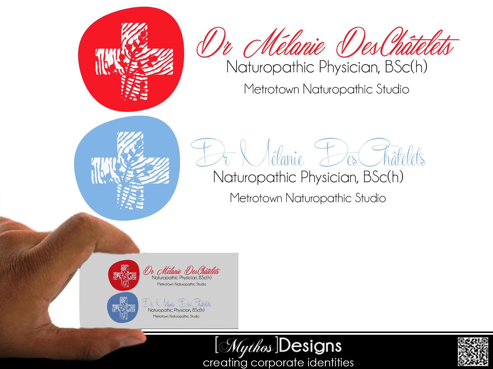 Logo Design by Mythos Designs - Entry No. 177 in the Logo Design Contest Artistic Logo Design for Dr Mélanie DesChâtelets.