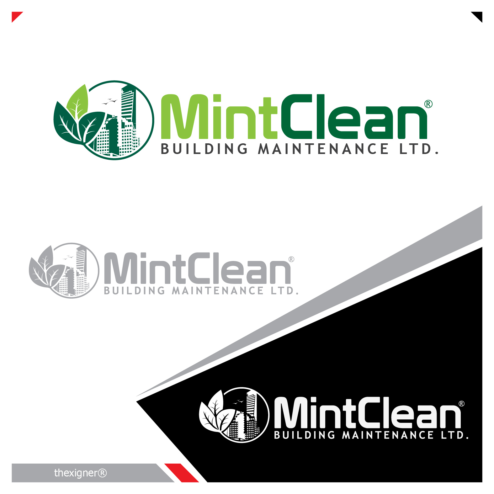 Logo Design by lagalag - Entry No. 103 in the Logo Design Contest MintClean Building Maintenance Ltd. Logo Design.