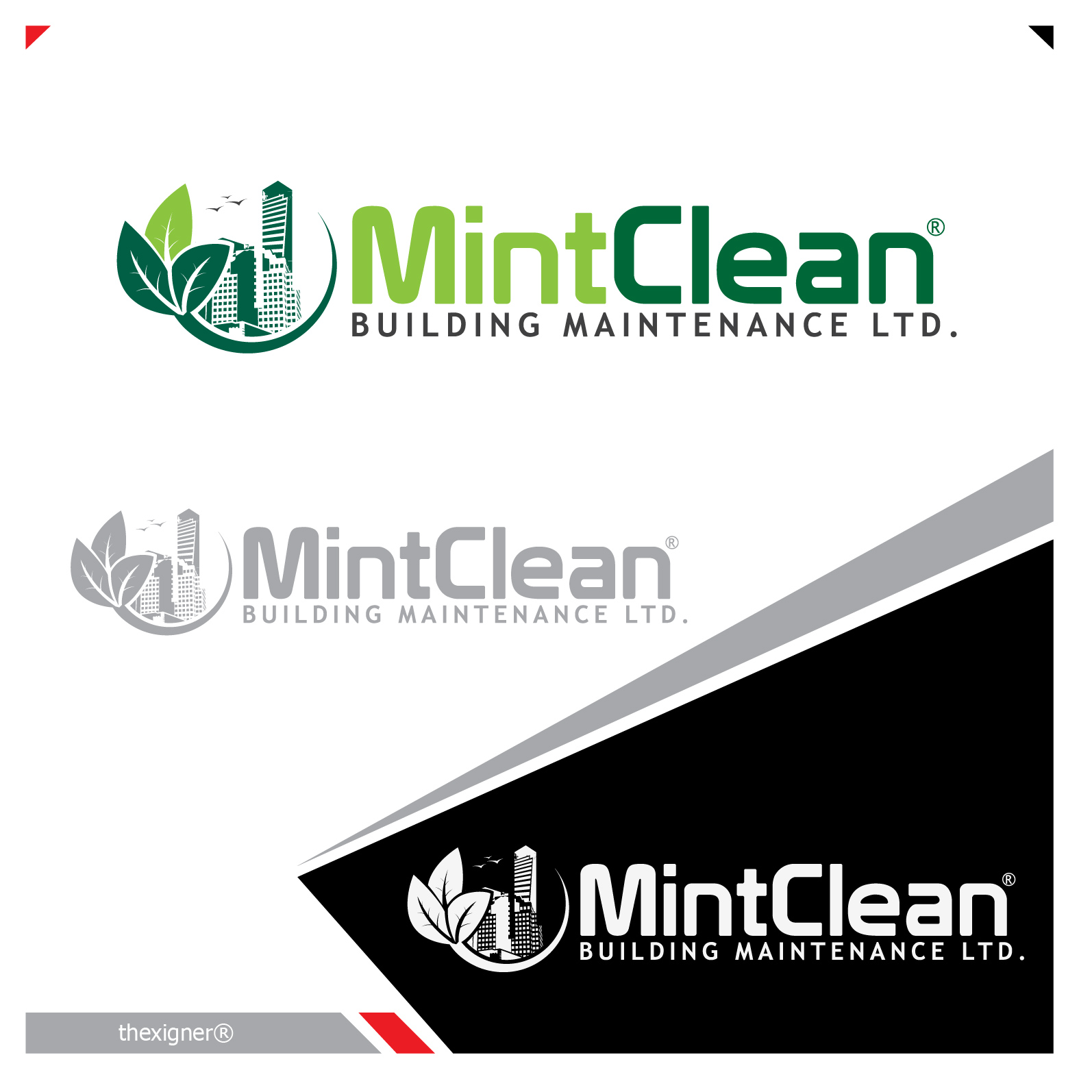 Logo Design by lagalag - Entry No. 104 in the Logo Design Contest MintClean Building Maintenance Ltd. Logo Design.