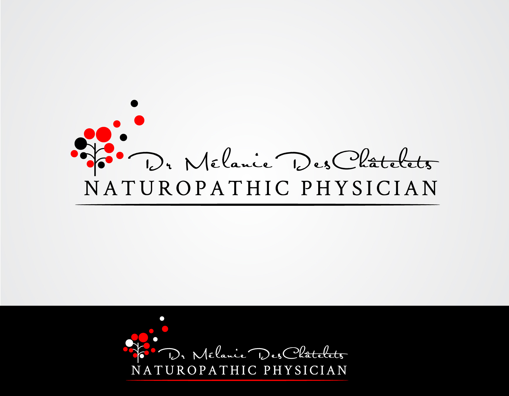 Logo Design by Darina Dimitrova - Entry No. 189 in the Logo Design Contest Artistic Logo Design for Dr Mélanie DesChâtelets.