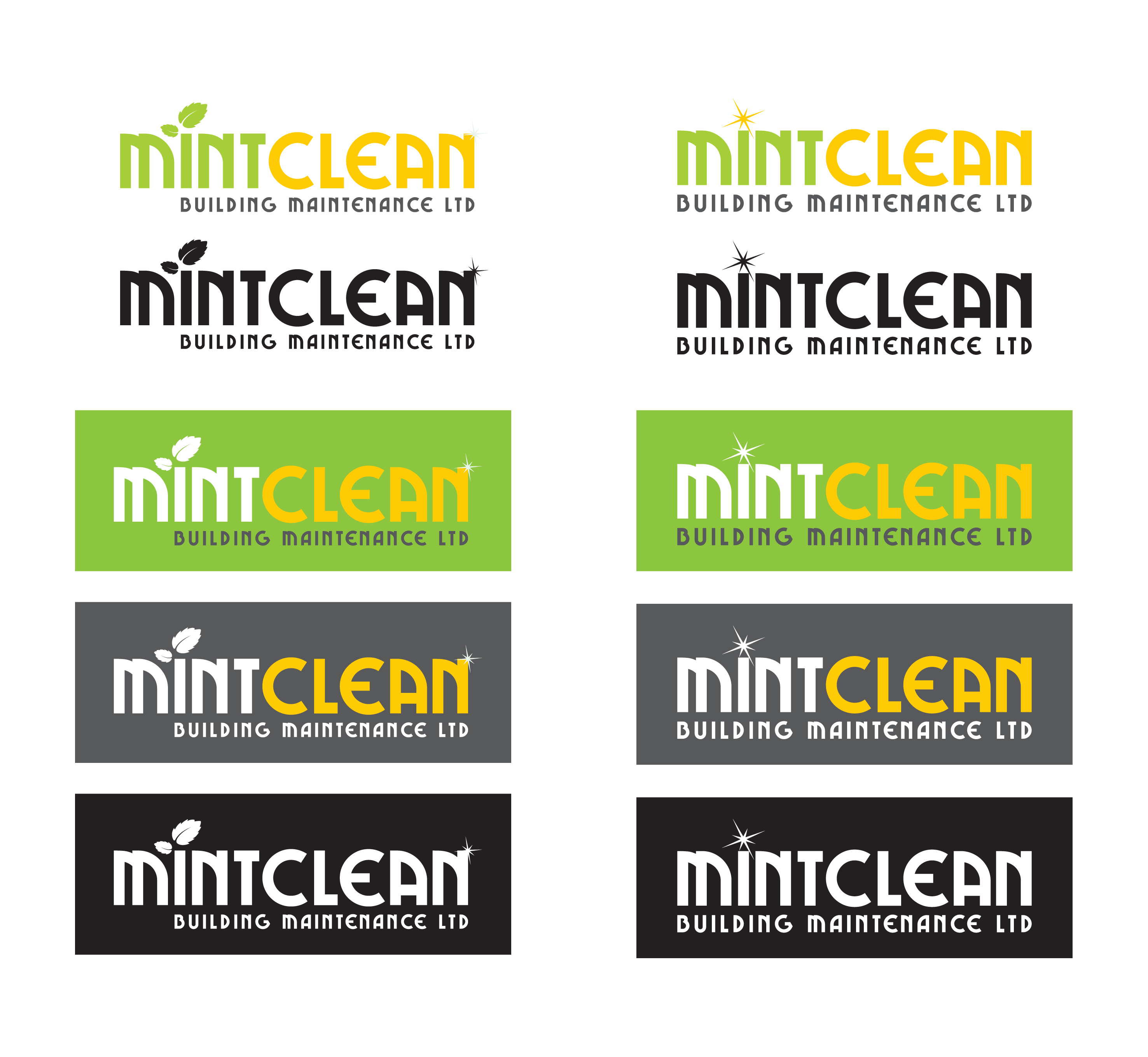 Logo Design by Vasil Boyadzhiev - Entry No. 109 in the Logo Design Contest MintClean Building Maintenance Ltd. Logo Design.