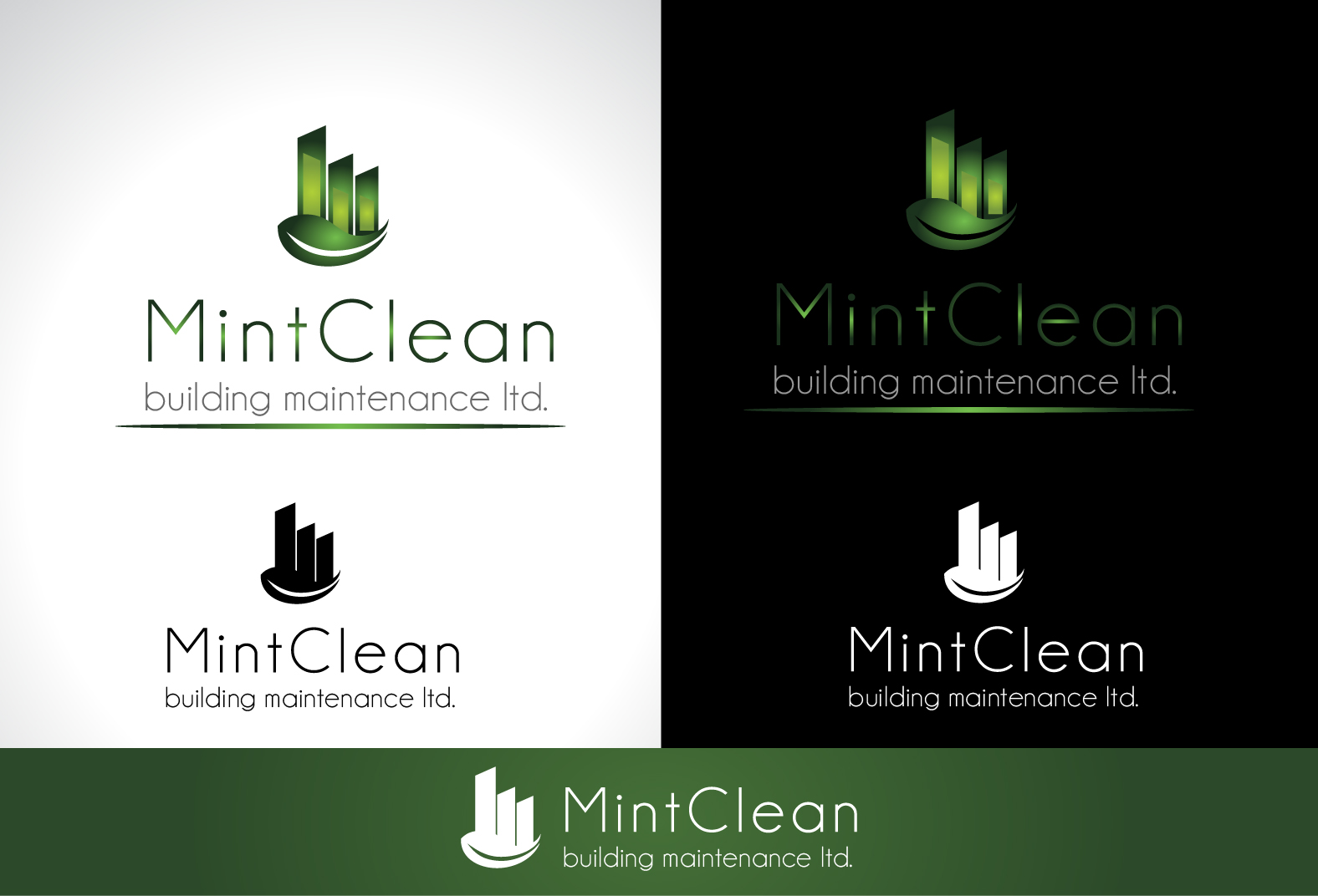 Logo Design by Darina Dimitrova - Entry No. 111 in the Logo Design Contest MintClean Building Maintenance Ltd. Logo Design.