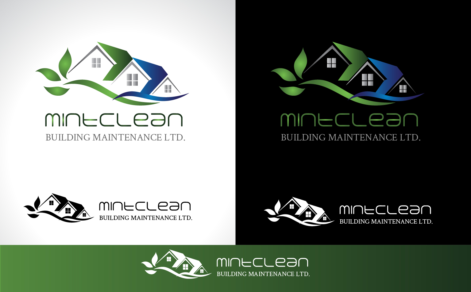 Logo Design by Darina Dimitrova - Entry No. 114 in the Logo Design Contest MintClean Building Maintenance Ltd. Logo Design.