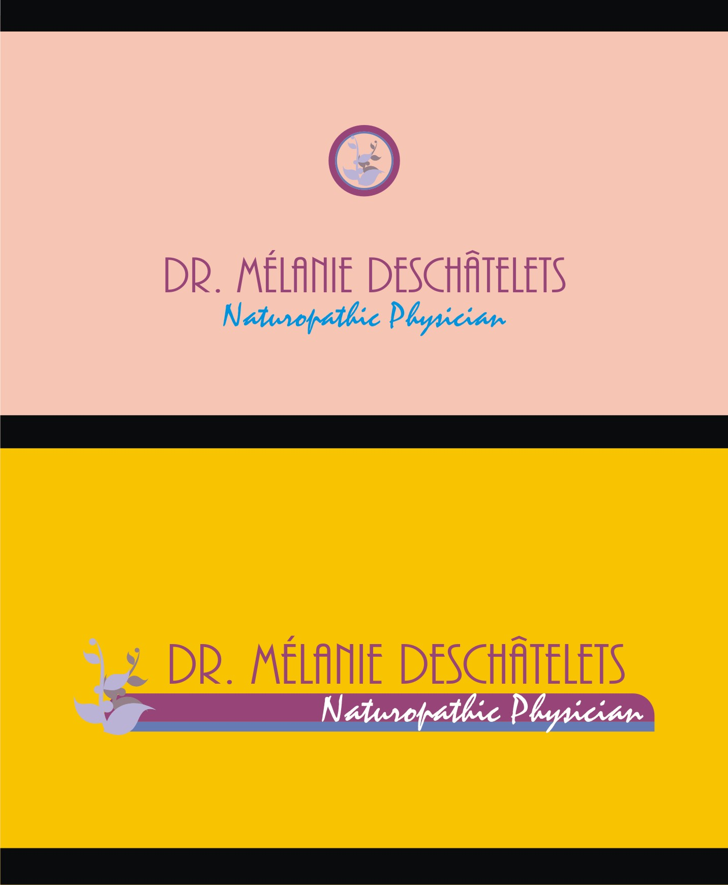Logo Design by Private User - Entry No. 226 in the Logo Design Contest Artistic Logo Design for Dr Mélanie DesChâtelets.