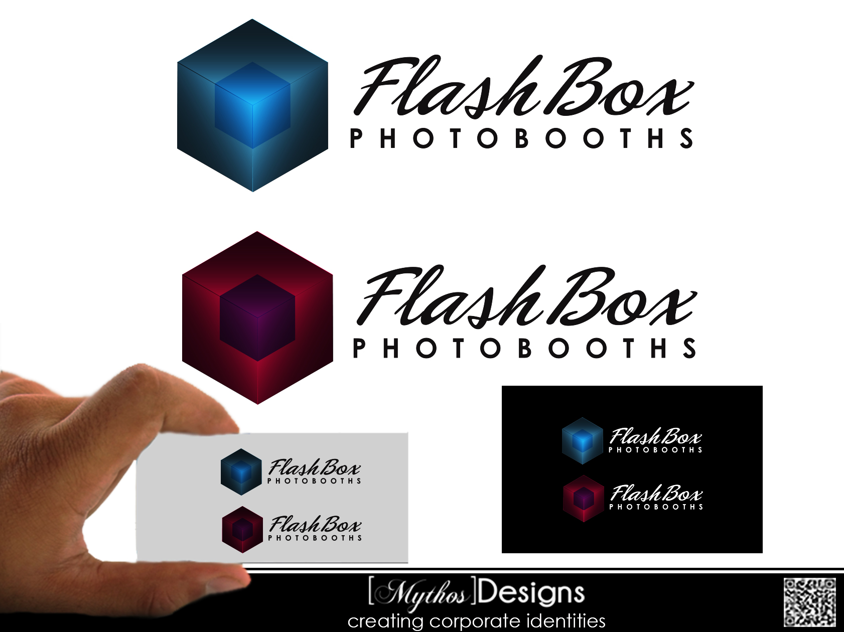 Logo Design by Mythos Designs - Entry No. 77 in the Logo Design Contest New Logo Design for FlashBox Photobooths.