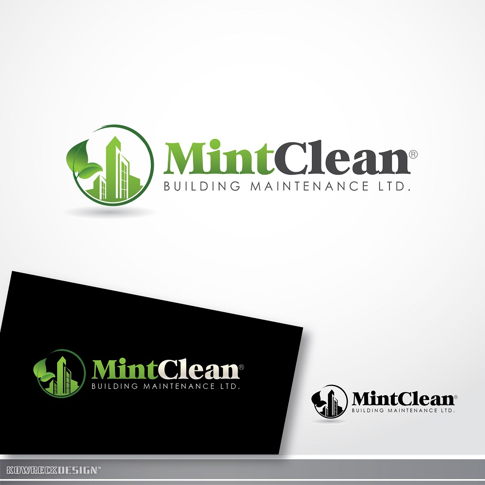 Logo Design by kowreck - Entry No. 124 in the Logo Design Contest MintClean Building Maintenance Ltd. Logo Design.