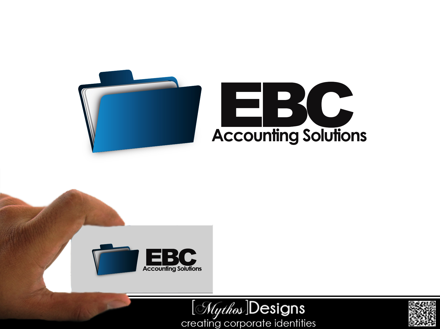 Logo Design by Mythos Designs - Entry No. 17 in the Logo Design Contest New Logo Design for EBC Accounting Solutions.